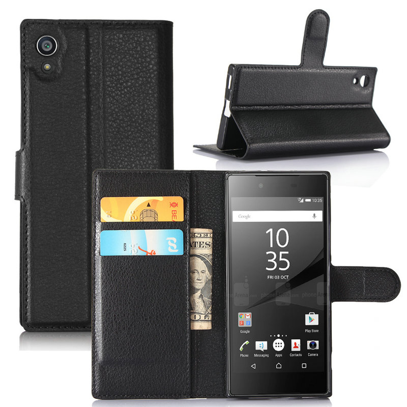 For Sony <font><b>Xperia</b></font> 10 Plus XZ3 XA1 XA2 Ultra Flip Leather <font><b>Case</b></font> for Sony <font><b>Xperia</b></font> <font><b>1</b></font> L3 XA1 Plus XA2 Plus Wallet Cover <font><b>case</b></font> image