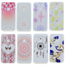 Transparent Silicone Case For Huawei P10 / P10 Lite Case Colorful Printing Flower Soft TPU Phone Cover For Huawei P10 Lite Coque