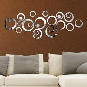 24Pcs Circles Mirror Wall Stic