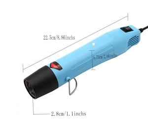 Image 5 - Тепловая пушка, Электрический электроинструмент, горячий воздух 300 Вт, температура DIY, тепловая воздушная пушка для термоусадочной пластиковой посуды FIMO dinks, полимерная глина, тиснение 858
