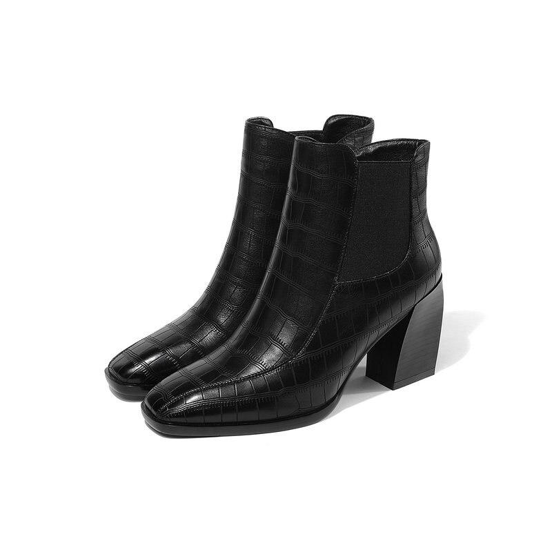 Plataforma greyspring Tobillo blackwinter Cuero Zapatos De Tacón Invierno Boda Alta Vaca Botas greywinter Las Mujeres Alto Blackspring Para Especial Genuino Negro vvqOIU