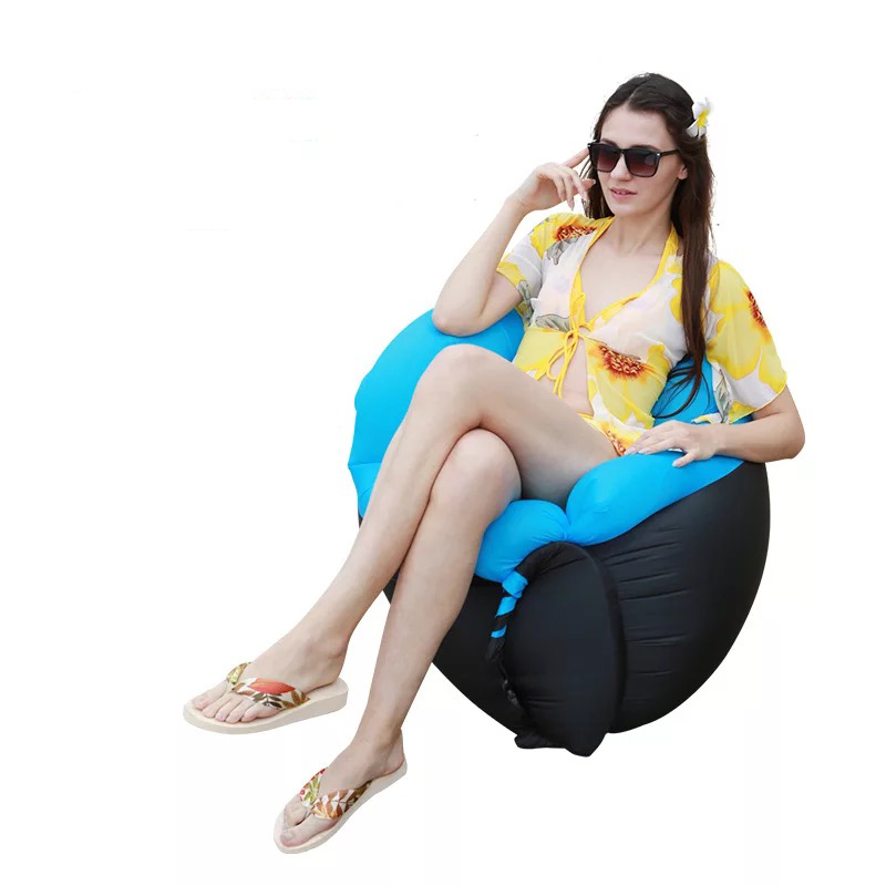 2019 High quality 160*70CM color matching pillows outdoor portable lazy foldable inflatable sofa2019 High quality 160*70CM color matching pillows outdoor portable lazy foldable inflatable sofa