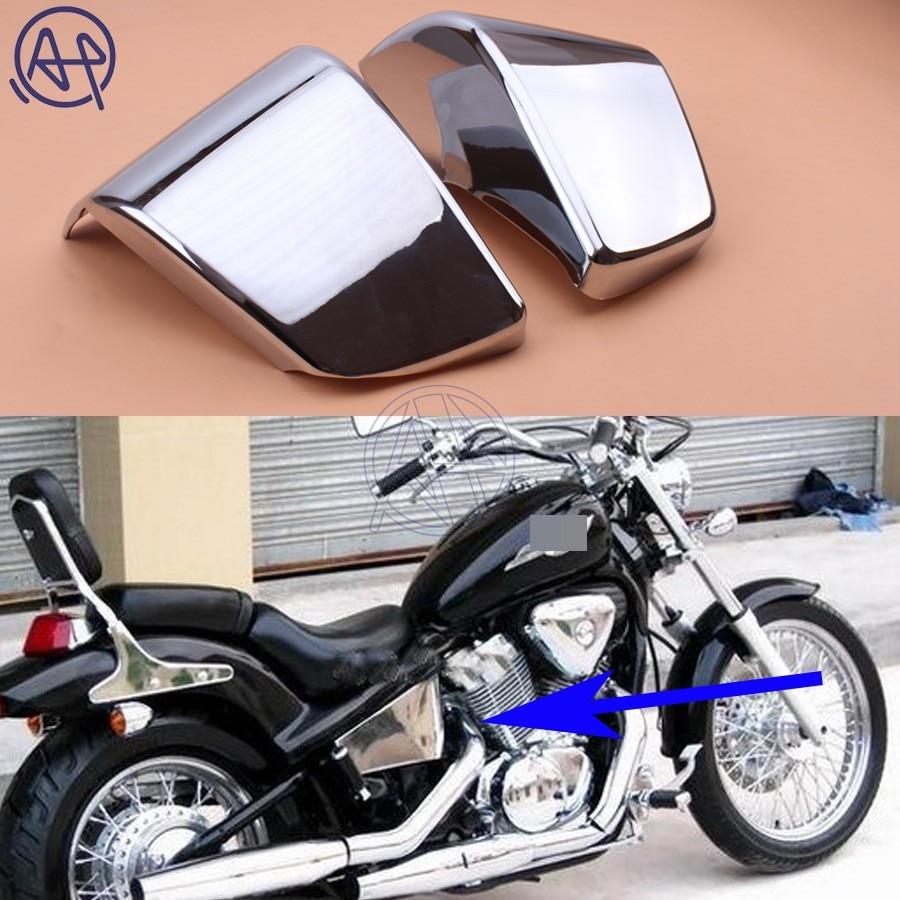 Chrome plastic battery side fairing cover fit for honda shadow ace vt 400 750 1997