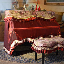 Wine red piano cover full cover fashion quality fabric piano cover new arrival