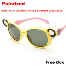 New Super Cute Children's Round polarized sunglasses Love Sunglasses for Boys and girls child Mouse 4 colors Glasses HQ brand