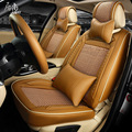 2016 летом лед шелк кожа автомобиля подушки сиденья чехлы на сиденья кожаные сиденья protector украшение для bmw f10 GFJS-1604