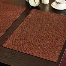 HARTING кожаной подставки для столовых приборов современный стиль крокодил картина стол коврик изоляции колодки мат декоративные подставки под Кофе