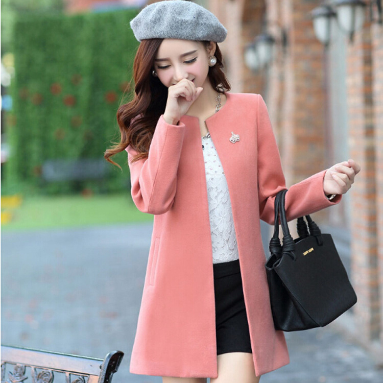 Coat Winter Jacket Women Casual Long Wool Coat 2016 New Korean Fashion Large Size Women 39 S Winter