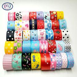 HL Handicraft Multi Mixed Printed Satin Grosgrain Ribbons DIY Sewing Accessory Gift Wrap Ribbon for Christmas Wedding Decor