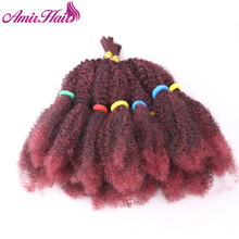 Amir Marley Braids Hair Afro Kinky Bulk Synthetic Hair 14″Crochet Braid Hair For Women Hair Extensions