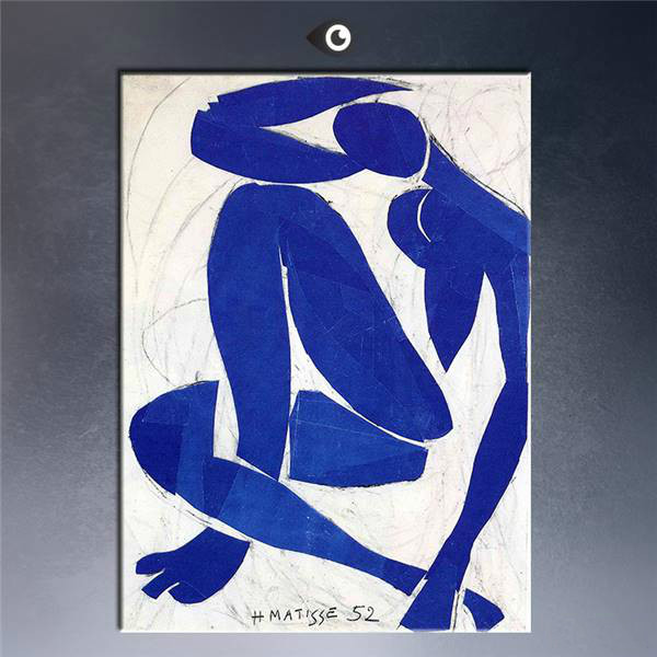 Original Limited Edition Print Blue-Nude-1952 Poster Print On Canvas gift Landscape Rectangle Canvas Printings
