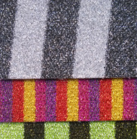 Synthetic PVC Stripe Glitter Leather Material