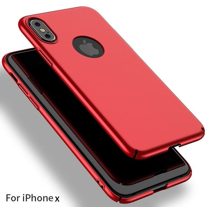 Mince Mat tui pour iPhone X Plastique Rigide Pour iPhone X 6 6S 8 7 Plus