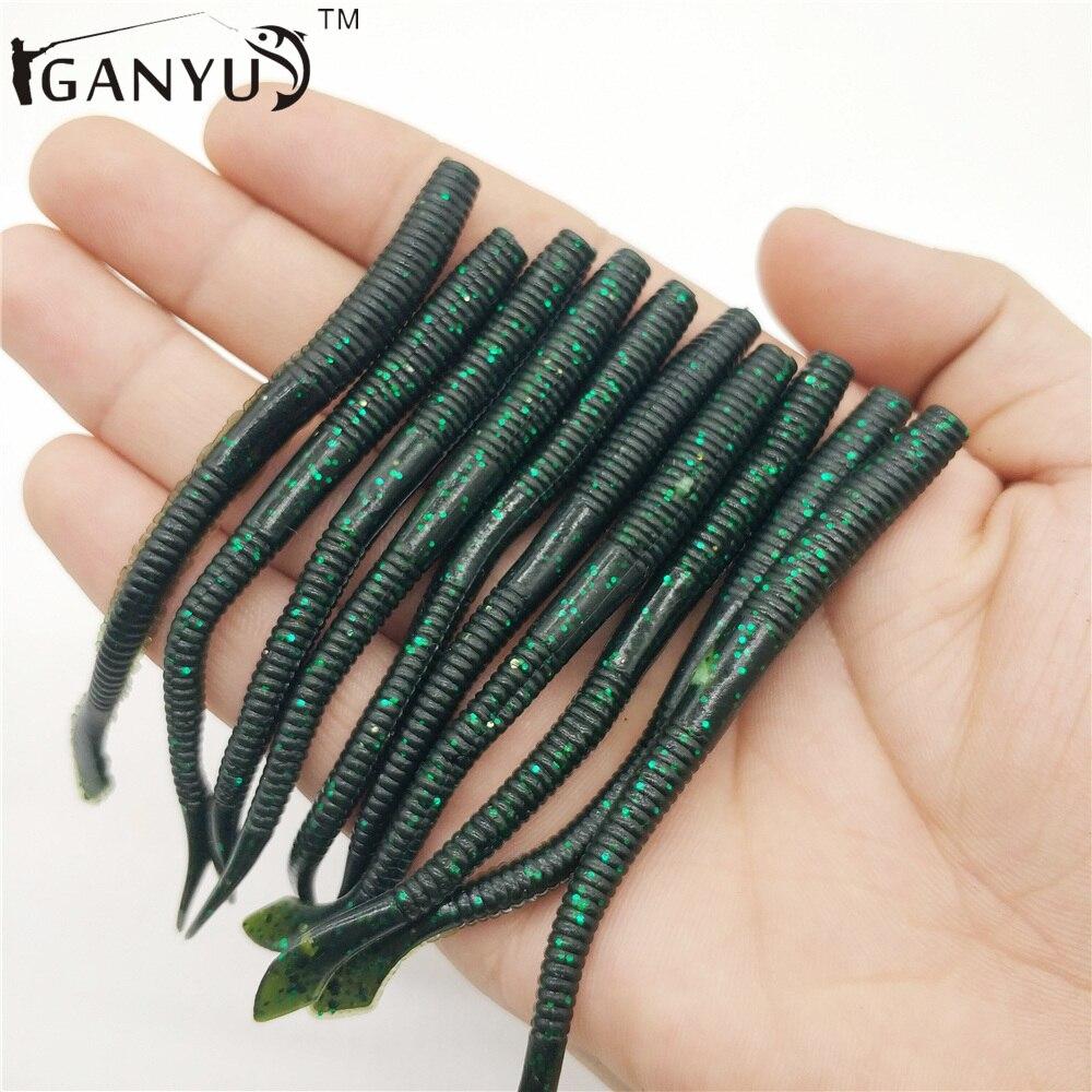 Iganyus 10 шт./лот морские черви искусственные мягкие приманки 100 мм 2.3 г прикормы рыбный запах Горячие рыболовную takcle силиконовые приманки KL-025