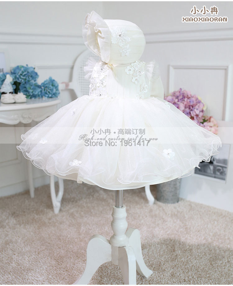 2016 High-en Girl Dress Baby Girl Handmade Applique Dress Can Be Customized Factory Direct Sale Price 2016 summer fashion dresses of the girls beautiful female baby lace dress can be customized factory price direct selling