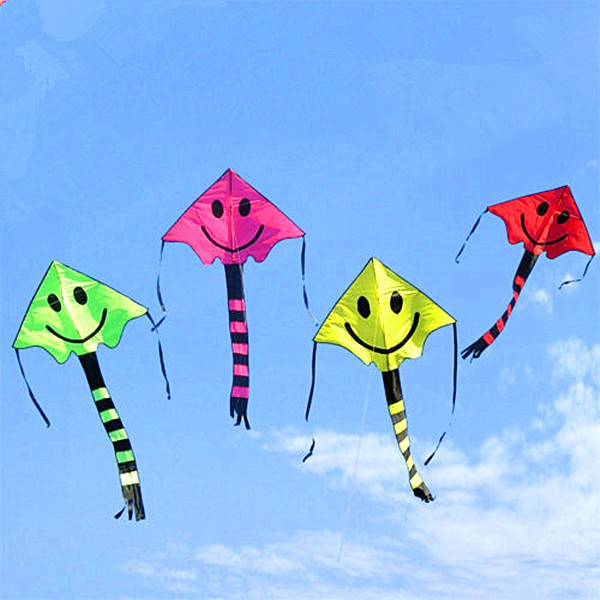 Diligent Jimitu Smile Child Toy Kite Smiley Angel Kites 76cm Kites & Accessories 167cm Camping Sports Beach Flying Tool Accessories Outdoor Fun & Sports