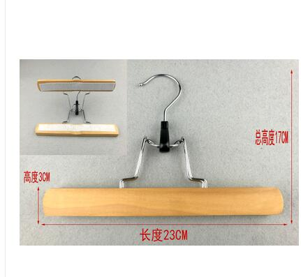 5pcs / lot houten jurk clip wollen broek hanger mahonie broek clip - Home opslag en organisatie - Foto 2