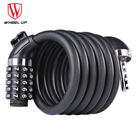 WHEEL UP Bike Bicycle 5 Letters Code Lock Bicycle Accessories Combination Coiled Bike Steel Cable Lock Cycling Password Lock