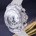 Модные мужские и женские наручные часы автоматические механические с большим циферблатом женские и мужские часы прозрачные водонепроница...