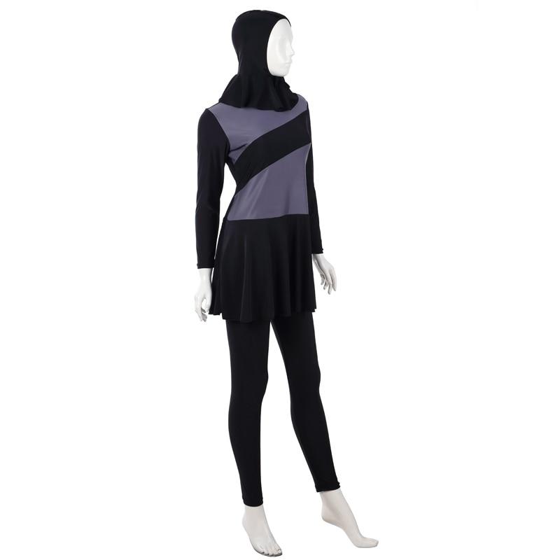 Hooded Women Lady Muslim Full Cover Swimsuit Beachwear Summer  Costumes Plus Size XS-XXXL