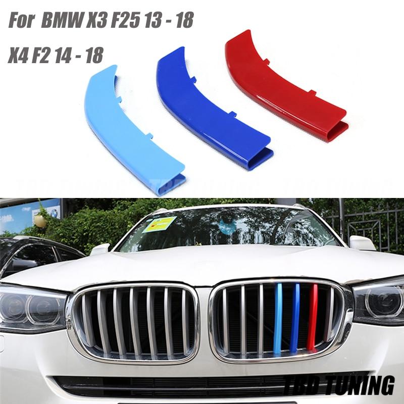 3pcs M-Color Front Centre Grille Decor Cover Trim for BMW X3 G01 2018