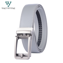 Famous Brand Belt Men Top Quality Genuine Luxury Leather Belts for Strap Male Metal Gray Automatic Buckle 3.5cm