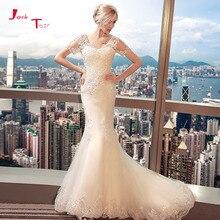 Jark Tozr Custom Made Short Sleeve Mermaid Wedding Dresses