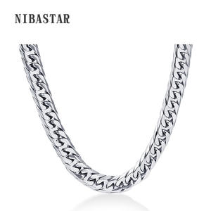 VQYSKO Mens Chain Stainless Steel Necklace Silver Jewelry