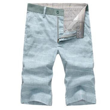 2018 Summer Fashion Men s Casual Shorts Cotton Linen All match Slim Board Shorts Male XZ132