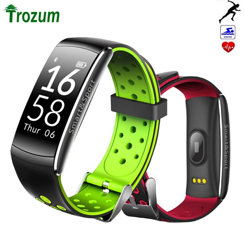 Q8 Braccialetto Intelligente Monitor di Frequenza Cardiaca Fitness Tracker Bluetooth Wristband IP68 Impermeabile di Sport del Monitor Smartband per Android IOS