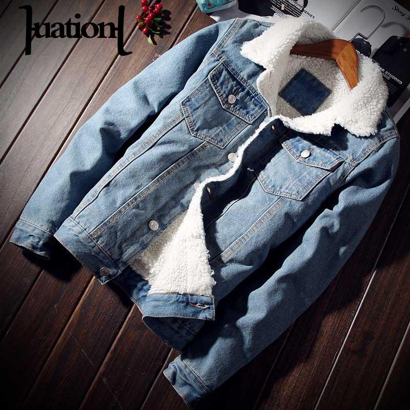 Winter jacket Men Warm Slim Men's Thickening Fur   Parka   Coats Men's Plus Size Velvet Denim   Parkas   Coat ropa de hombre 2019 5XL