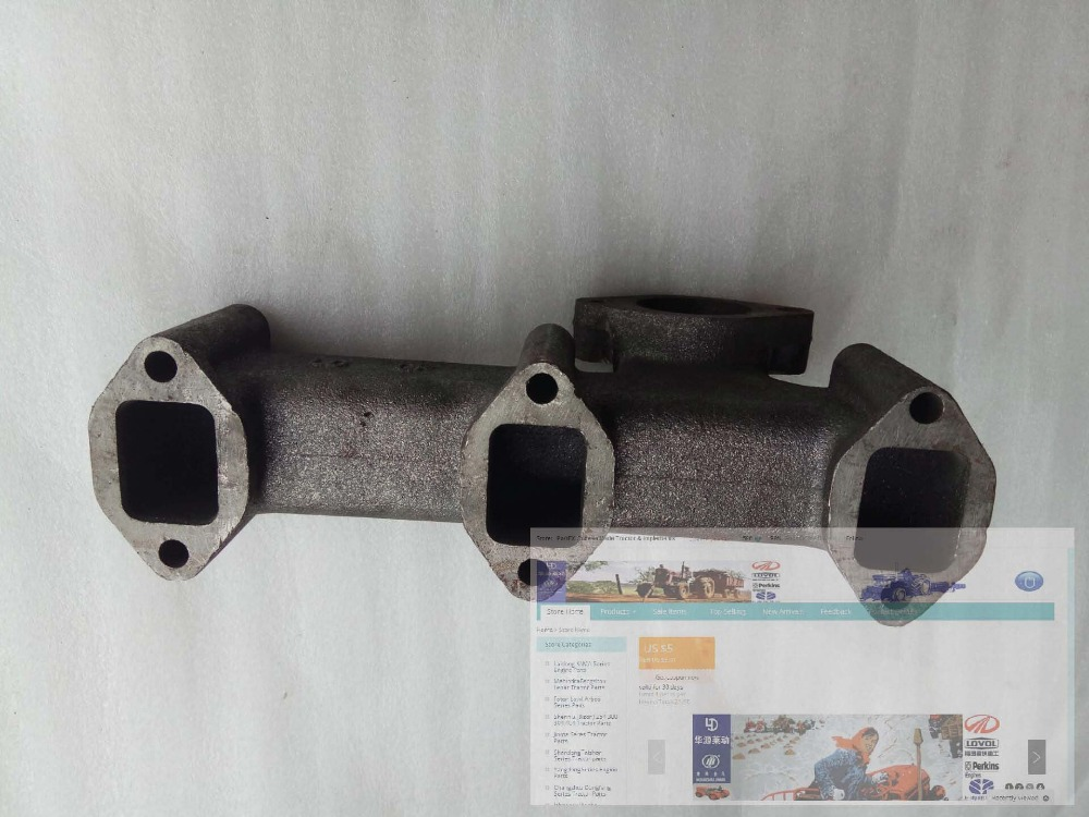 Laidong KM390BT for tractor like Luzhong brand, the exhaust manifold, part number: jiangdong jd495t ty4102 engine for tractor like luzhong series the high pressure fuel pump x4bq85y041