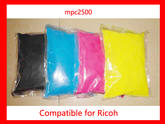 High quality color toner powder compatible Ricoh MPC2500 MP C2500 2500 Free Shipping high quality color toner powder compatible ricoh c1500 free shipping