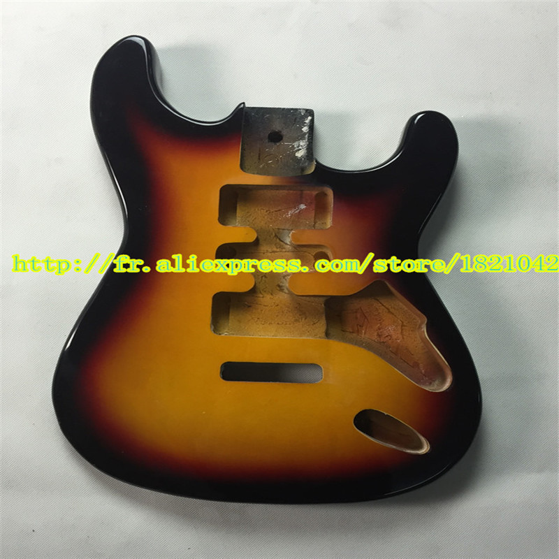 ST standard, 2015 high quality electric guitar body basswood, sun light color, free shipping hot sale top quality white lp custom guitar with golden hardware electric guitar free shipping white color