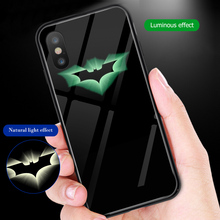 ciciber Marvel Venom Batman Tempered Glass Phone Case For iPhone 7 8 6 6S Plus Cover For iPhone 11 Pro Max X XR XS Max Funda ciciber dragon ball phone case for iphone 11 pro max xr x xs max tempered glass cover cases for iphone 7 8 6 6s plus funda coque