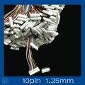 Mini. микро 1.25 Т-1 10-контактный Разъем w/. Провода x 10 sets.10pin 1.25 мм