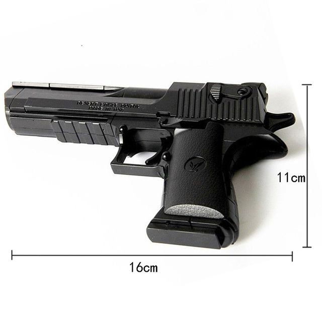 DIY Assembling Building Block Gun Toys Pistol Rifle Children Plastic 3D Miniature Gun Model For Boys CS Games Educational Toy