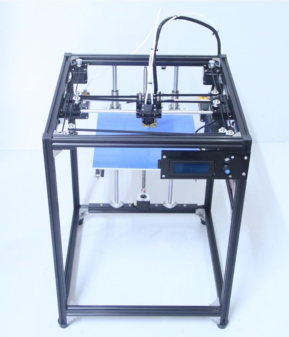 DIY KIT big size 3d printer High quality LCD screen dual extruder 3D Printer corexy Machine