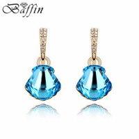 Vintage Retro Piercing Earrings Made With Swarovski Elements Crystal Long Brincos De Festa For Women Fine