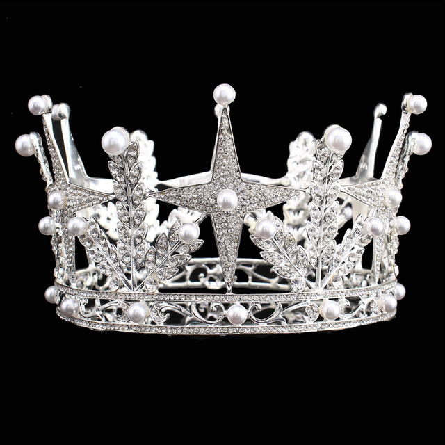 Cross Star Design Bridal Crystal Tiara Crowns Princess Queen Pageant Prom Rhinestone  Headband Wedding Hair Accessory HG00200 104275de2997