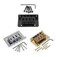 4 String Bridge for Cigar Box Ukulele Electric Bass Guitar Mandolin Parts Replacement Chrome Black Gold