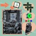 Runing X79 motherboard mit 8 RAM slots CPU Xeon E5 1650 C2 3 2 ghz mit kühler RAM 4*16g 1600 RECC GPU GTX1050TI 4g video karte-in Motherboards aus Computer und Büro bei