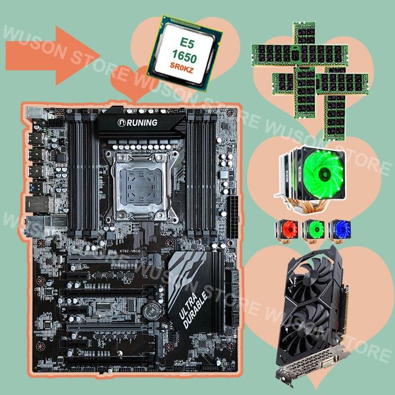 Runing X79 scheda madre con 8 RAM slot CPU Xeon E5 1650 C2 3.2 ghz con dispositivo di raffreddamento RAM 4*16g 1600 RECC GPU GTX1050TI 4g scheda videoRuning X79 scheda madre con 8 RAM slot CPU Xeon E5 1650 C2 3.2 ghz con dispositivo di raffreddamento RAM 4*16g 1600 RECC GPU GTX1050TI 4g scheda video