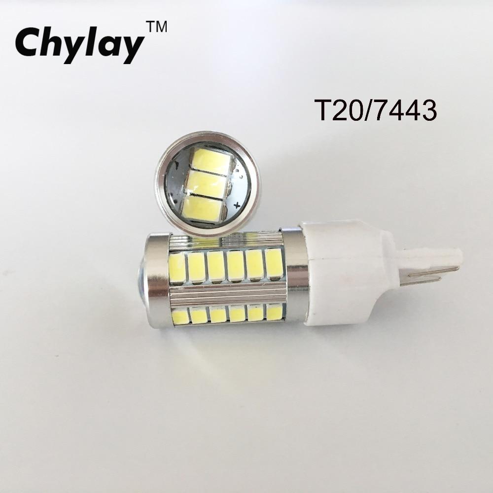 2ks Led T20 7443 33SMD Vysokovýkonné záložní zpětné světlo LED žárovka pro brzdové světlo automobilu