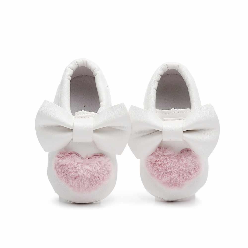 Обувь для новорожденных; обувь для малышей; детские ходунки с мягкой подошвой и бантом; весенние кроссовки без застежки