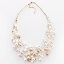 KMVEXO, новинка, модное ювелирное изделие, золотой цвет, многослойные цепочки, ожерелья из искусственного жемчуга для женщин, вечерние, свадебные, свадебные ожерелья