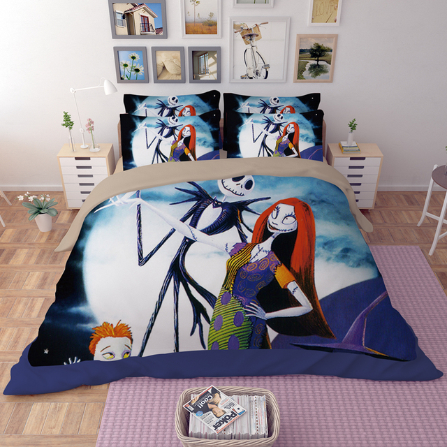 3d luxury nightmare before christmas bedding set kingqueenfull sizer cover sheet pillowcase - Nightmare Before Christmas Bedding Queen