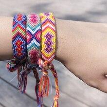 9ee9194e6a1a Bohemio Brasil Unisex tejido hecho a mano encanto pulseras brazaletes para  las mujeres los hombres étnico Vintage cuerda de algo.