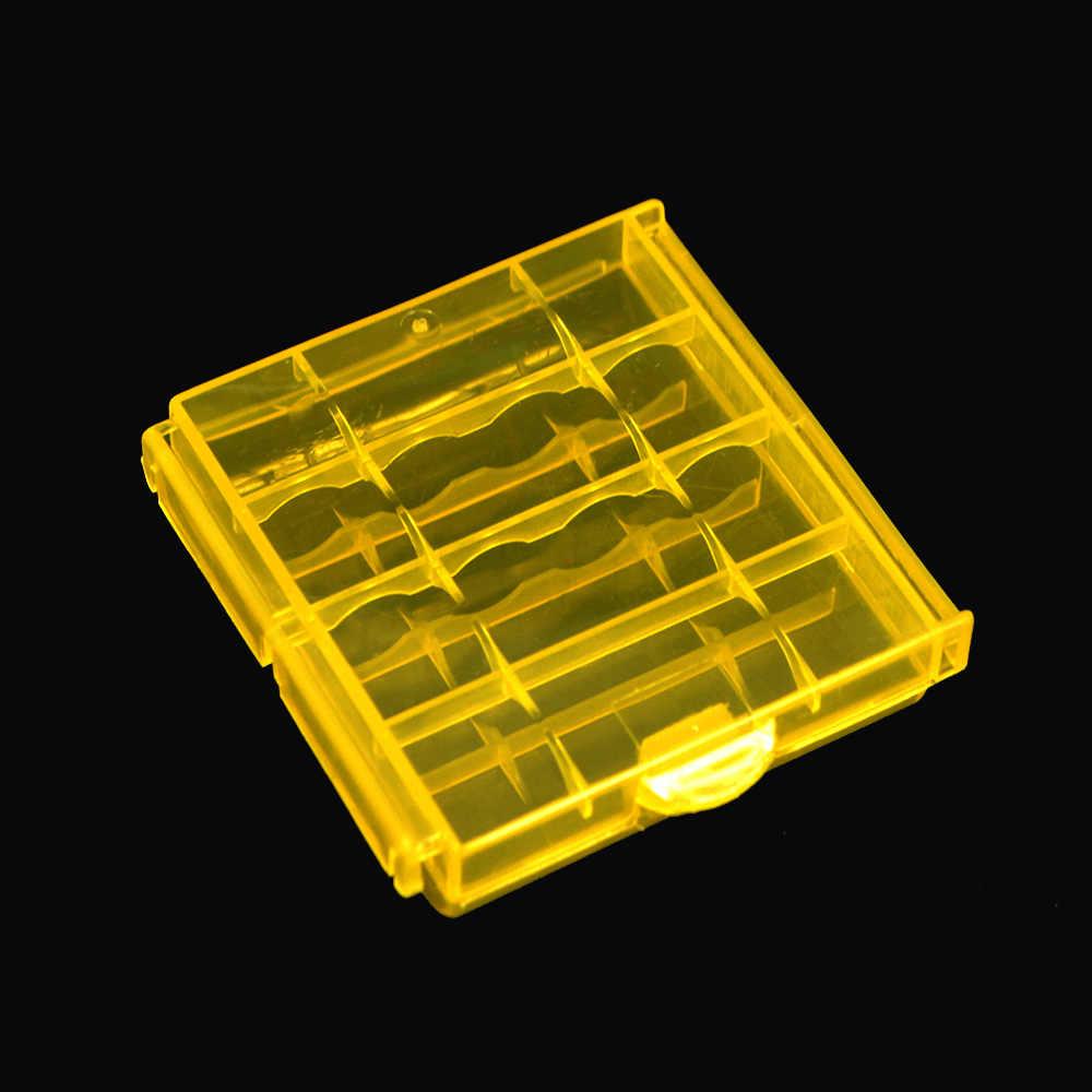 2019 красочный пластиковый Чехол Держатель Коробка Для Хранения Чехол для 10440 14500 AA AAA батарея коробка контейнер сумка органайзер коробка