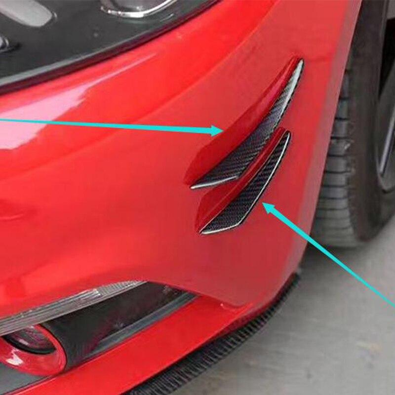 For Audi A1 A3 A4 A5 A6 A7 TT R8 4PCS/SET Carbon Fiber Car Front Air Vent Decoration Side Molding Trim